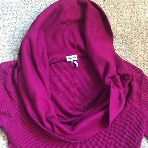 Splendid Tops - Splendid waffle knit cowl neck top